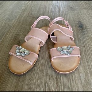 Joyfolie Girls Sandals Size 5 - Tan Color